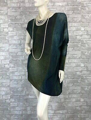 Helmut Lang New Green Stretch Blouse Tunic Dress Top 8 10 US 46 IT M Runway Auth