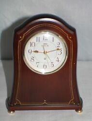 Seiko Quartz Mantel Shelf Desk Motion Clock Made In Japan Gold Wood Vtg Battery