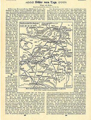 Karte Kriegsschauplatz Transvaal * Kroonstad- Pretoria* Text / Bilddokument 1900