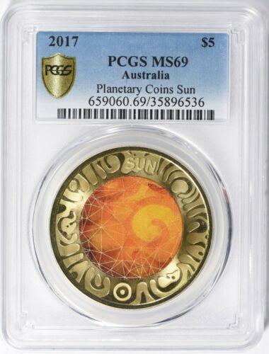 Australia 2017 $5 Planetary Coins Sun PCGS MS-69