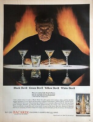 60s Vintage Bacardi advertising Alcohol Archival Poster Print Ad