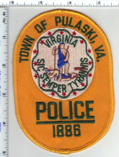 Town of Pulaski Police (Virginia) Uniform Take-Off Shoulder Patch from the 1980s