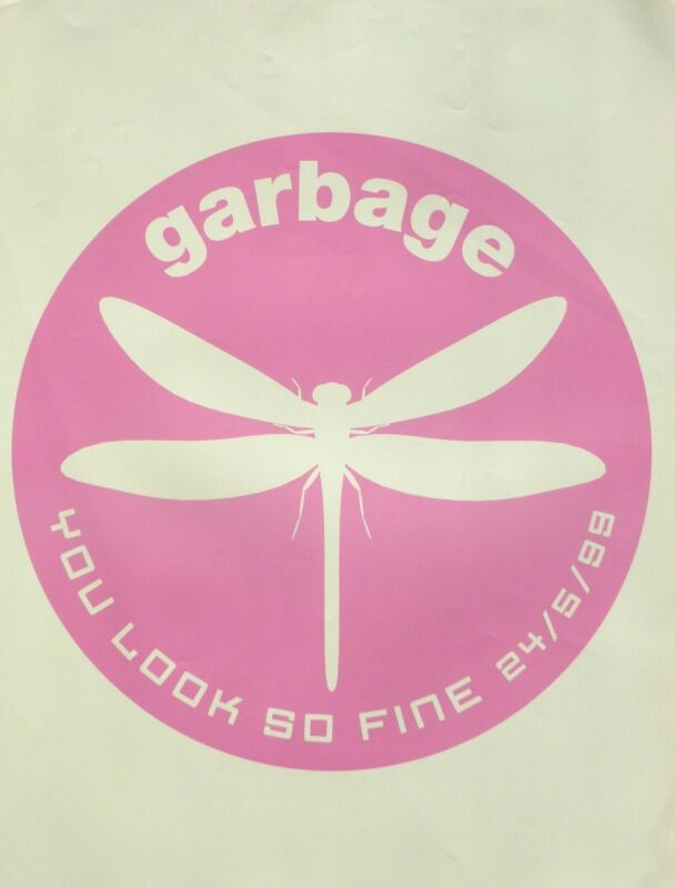 "GARBAGE ""YOU LOOK SO FINE"" U.K. PROMO POSTER-Dragonfly In Circle, Shirley Manson"
