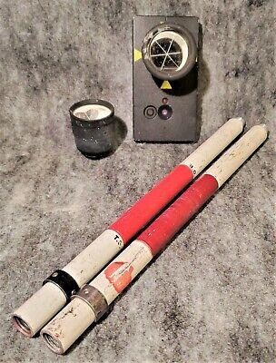 Trimble Geodimeter Remote Target - Pn 571 202 200 2x Poles Spare Prism