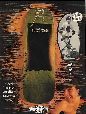 1e36379e2aa SIMS Eric Nash Advert Poster from Thrasher Magazine 1988