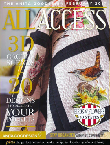 All Access VIP FEBRUARY 2017 Anita Goodesign Machine Embroidery Designs CD