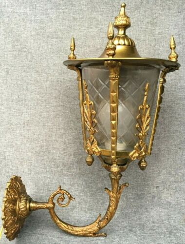 Large antique french Empire style lantern sconce early 1900