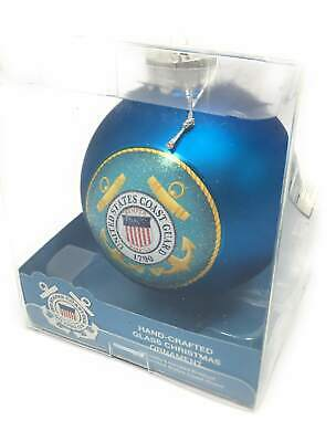 U. S. Coast Guard Blue Glass Ball Ornament Blue Glass Ball Ornament