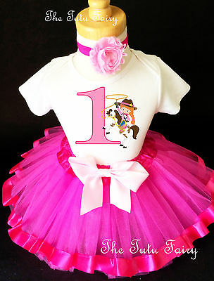 Cowgirl Red Hair Pony Horse Baby Girl 1st First Birthday Tutu Outfit Shirt - Baby Girl Cowgirl Outfits
