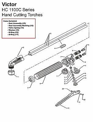 Victor Hc1100c Hc1131c Hc1151c Bulldog Cutting Torch Rebuildrepair Parts Kit