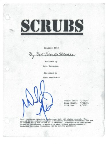 "Donald Faison Signed Autograph SCRUBS ""My Best Friends Mistake"" Script COA"