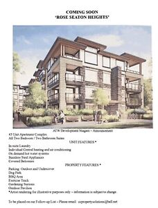 New Rental Apartments COMING SOON to Fort Erie!!