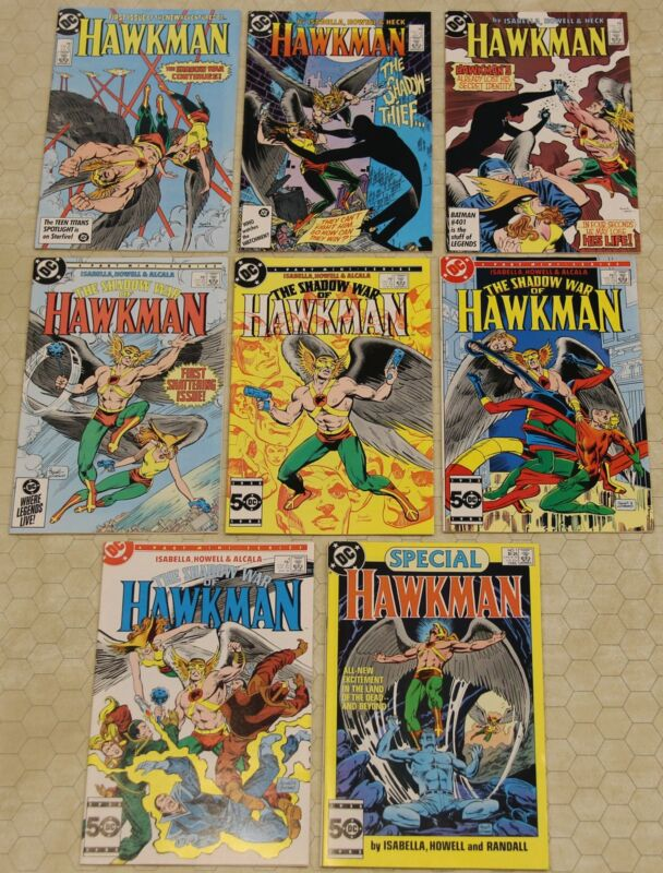 HAWKMAN Vol 2 (1986) Set #1 - 3 + Shadow War #1 - 4 + Special  NM (DC Comics) !!