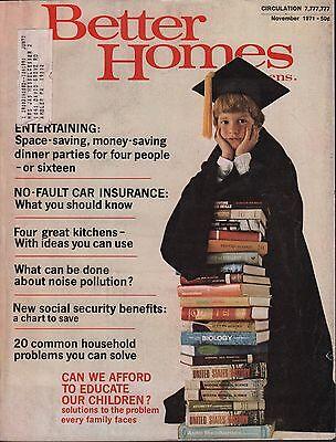 Better Homes & Gardens November 1971 No-Fault Car Insurance