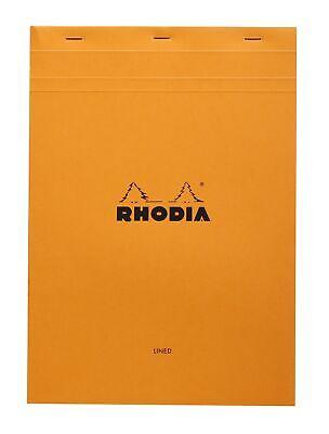 Rhodia Staplebound Notebook 6 X 8 Lined Paper Orange