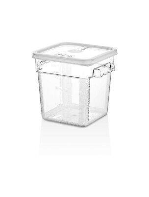 Food Storage Container (TemoWare Polycarbonate Square Food Storage Container 20x19x19cm 3.8 Ltr - 4Qt)