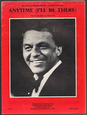 Anytime (I'll Be There) 1975 Frank Sinatra Sheet Music