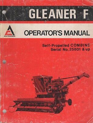 1975 Allis-chalmers Gleaner F Self-propelled Combine Operators 369