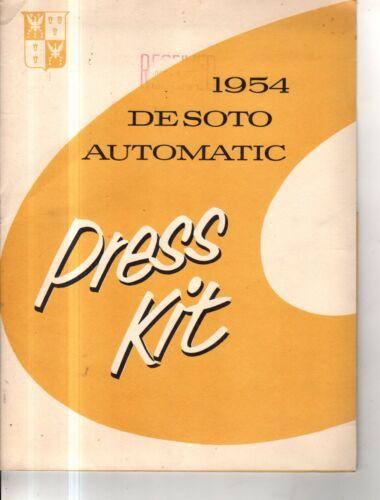 1954 DeSoto Original Press Kit with seven glossy photos - Extremely Rare