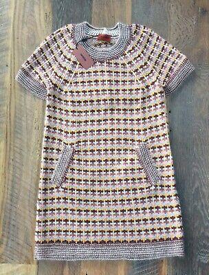 Vintage MISSONI Knit Sweater Dress w/ Peplum Back Wool, Mohair & Silk Italy NWT