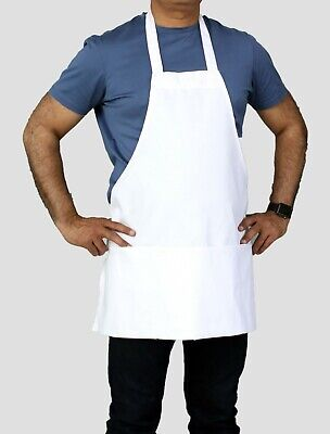 Professional White 25 X 30 Chefs Apron With Pockets - Restaurant Linen Store
