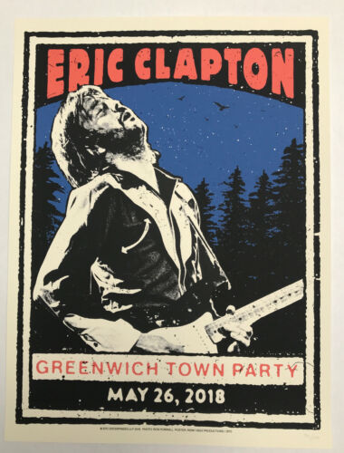 ERIC CLAPTON 2018 GREENWICH TOWN PARTY LIMITED EDITION SCREEN PRINT