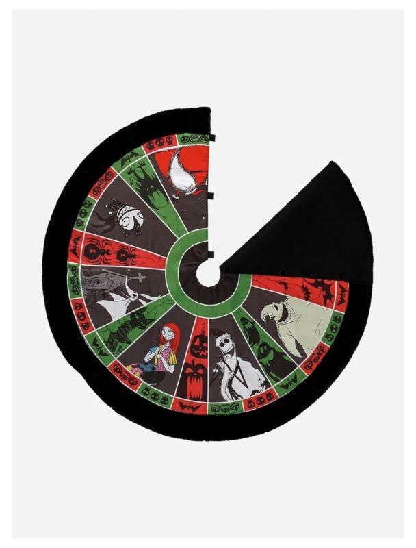 "Brand New Nightmare Before Christmas Roulette Wheel Christmas Tree Skirt 48"""