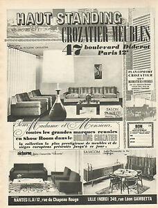 Publicit advertising 1965 meubles crozatier haut standing - Crozatier salle a manger ...