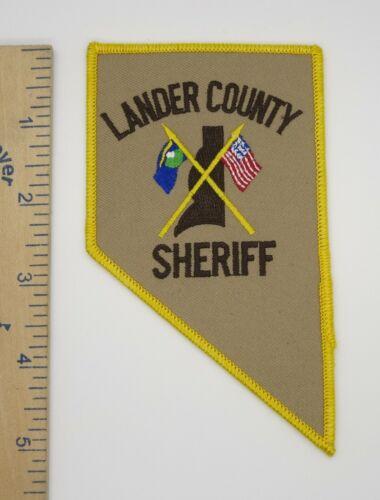 LANDER COUNTY NEVADA SHERIFF PATCH 1990s Vintage Original