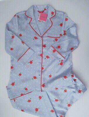 NWT Kate Spade New York LS Floral Charmeuse 2pc Cropped Pj Pajama Set M L XL NEW