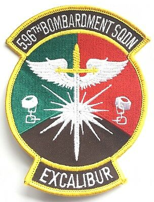 596th Bombardment Squadron Excalibur USAF Embroidered Patch **LAST ONE**