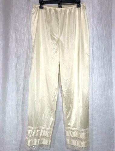 Velrose Pettipants Nylon Long Ivory 3502 1X XL adjustable length Pant Liner Slip