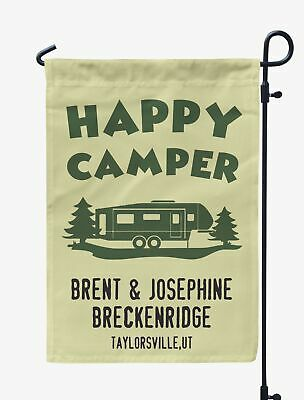 Printtoo Camping Flags Personalized Outdoor Garden Flags Camp Decor-CCM-PRCM51B ()