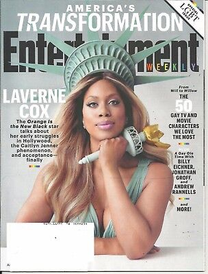 Entertainment Weekly June 19 2015 Special Lgbt Issue Laverne Cox Orange Is New