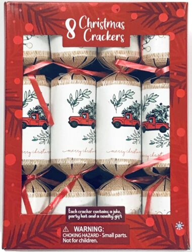 Holiday Christmas Party Crackers: Bringing Home the Tree Red White Green