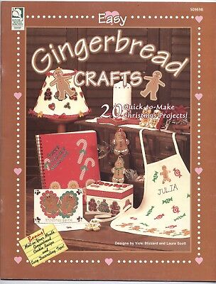 Easy Gingerbread Crafts: 20 Quick-to-Make Christmas Projects 18 pgs 1999 CG138