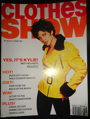 British UK CLOTHES SHOW 8/1991 Kylie Minogue Moschino Carol Decker Denice Lewis