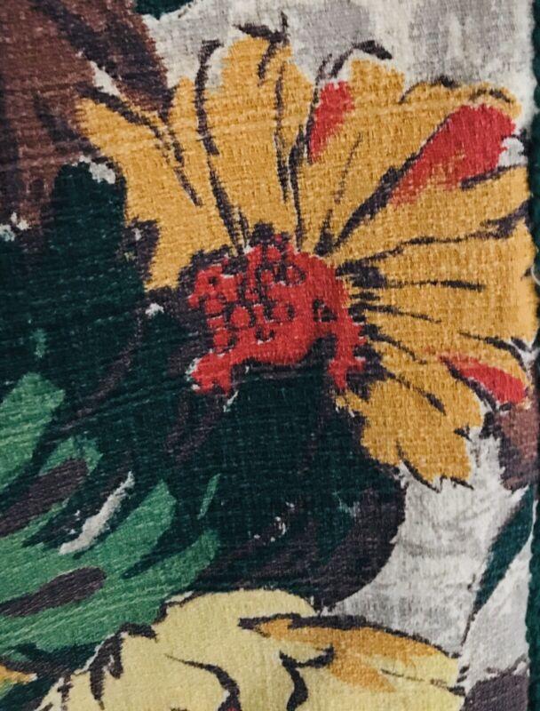 Vintage MCM Barkcloth Tablecloth