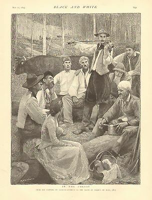 Gypsy, Violin Music, In The Forest, Family, Vintage 1893 English Antique -