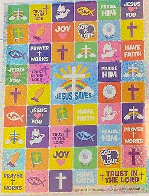 Sunday School Craft (Religious Faith Foil Stickers Planner Papercraft DIY Craft Bible Sunday School)