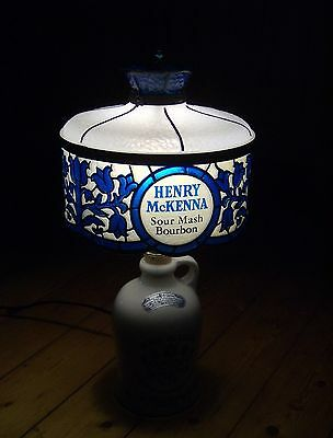 HENRY McKENNA Tischlampe vintage BOURBON WHISKY lamp LEVITON Made in USA - Rarrr