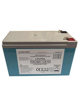 ULTRAMAX Litio 12V 9Ah Eléctrico Niños Juguete Coche Recargable Batería Repuesto