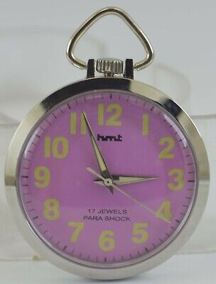 Vintage HMT 17Jewels Winding Pocket Watch For Unisex Use Working Good D-270-29