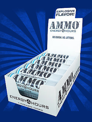 Ammo Energy Shot - BLUE RAZZ Low Carb, 12 Pack BETTER THAN 5 Hour Energy!