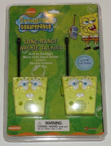 Spongebob Squarepants Long Range Walkie Talkies Sealed Mint in Package 2004
