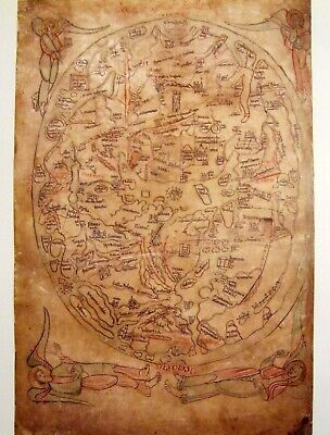 THE SAWLEY WORLD MAP 1200 AD HARDBACK 100 YEARS BEFORE HEREFORD MAPPA MUNDI
