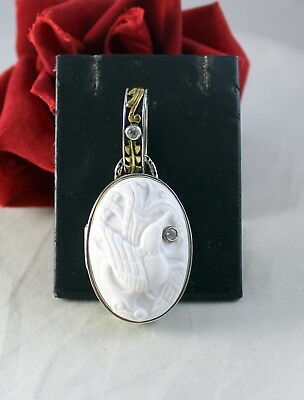 Sterling Silver 34g Anais Nin Bird Cameo Joy Came with me Pendant CAT RESCUE