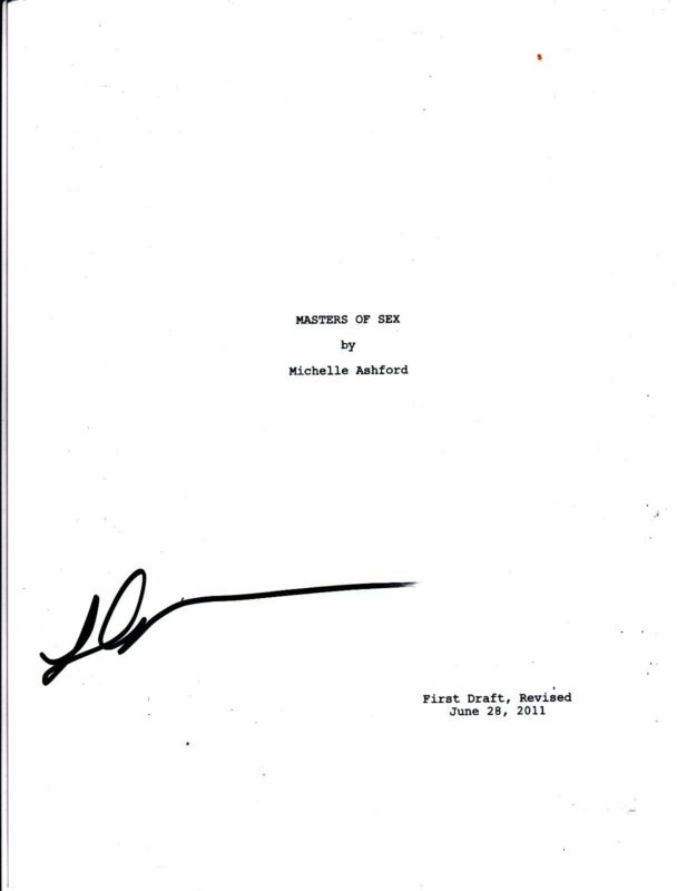 LIZZY CAPLAN SIGNED MASTERS OF SEX PILOT EPISODE SCRIPT FULL 66 PAGE AUTOGRAPH