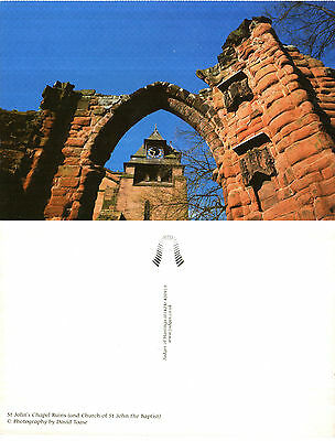 1990's St JOHNS CHAPEL RUINS CHESTER CHESHIRE UNUSED COLOUR POSTCARD