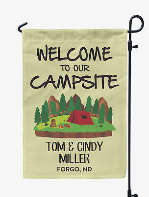 Printtoo Camping Flags Personalized Outdoor Garden Flags Camp Decor-GSR-PRCM98B ()